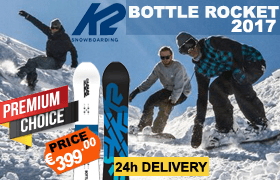 K2 BOTTLE ROCKET SNOWBOARD 2017