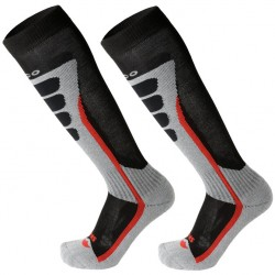 MICO 1644 Medium weight X-Static® - Ski socks  - Black