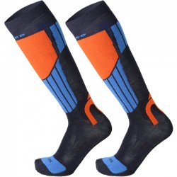 MICO 112 Light weight Natural Merino ski socks - Blue