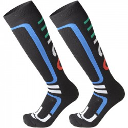 MICO 141 Medium Weight performance - Snowboard socks - Black/Blue