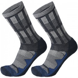 MICO 3010 Medium Weight Natural Merino - Outdoor socks - Blue