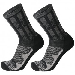 MICO 3010 Medium Weight Natural Merino - Outdoor socks - Black