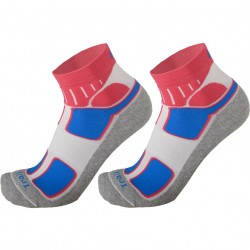 MICO 3052 Medium weight Trail-Running socks - White Fucsia