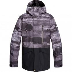QUIKSILVER Mission block - Men's Snow Jacket - Black Matte painting