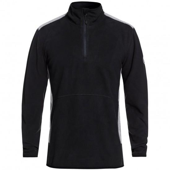 QUIKSILVER AKER - Men's Technical Half-Zip Fleece - Black