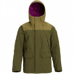 BURTON Breach Insulated - Men's snow Jacket - Keef/Martini Olive