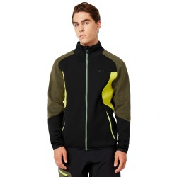OAKLEY Byrnes It Down DWR FZ - Men's Full zip fleece - Blackout