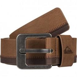 QUIKSILVER Binge -Men's Faux Leather Belt -Chocolate Brown