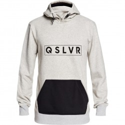 QUIKSILVER Big Logo Tech- Technical Men's Hoodie - Light Grey heather