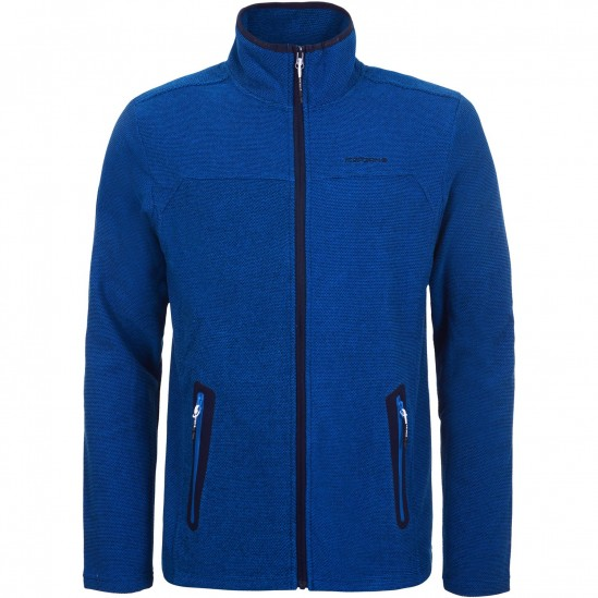 ICEPEAK Davenport - Men's Full zip fleece - Blue