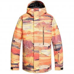 QUIKSILVER Mission Print - Men's Snow Jacket - Barn Red matte painting