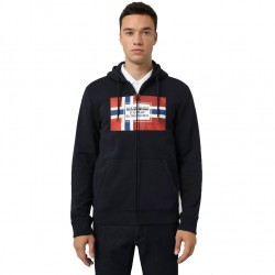 NAPAPIJRI Bera - Men's Full Zip sweatshirt - Blue Marine