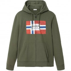 NAPAPIJRI Bera - Men's Full Zip sweatshirt - Green Depths