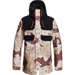 DC Haven - Men's Snow Jacket - Chocolate Chip Camo