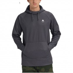 BURTON Crown Bonded - Men's Pullover Hoodie - True Black Heather
