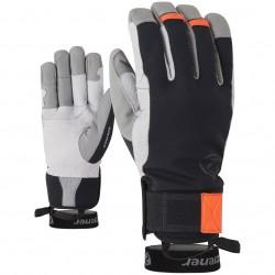 ZIENER GAMINUS AS® PR - Men's mountaineering glove - Black New orange