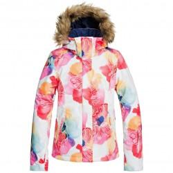 ROXY Jet Ski - Women's Snow Jacket - Bright White/Aquarel Flowers