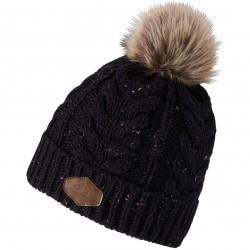 ZIENER IBO Wool - Γυναικείος σκούφος Pom-Pom - Black