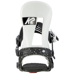 K2 Line Up White Black - Men's Snowboard Bindings