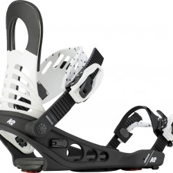 K2 Meridian Black/White - Women's Snowboard Bindings