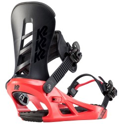 K2 SONIC Red - Men's Snowboard Bindings 2020