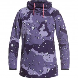 DC Salem - Technical Hoodie for Women - Chocolate chip/Grapescale camo