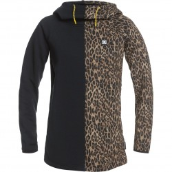 DC Salem - Technical Hoodie for Women - Leopard Fade