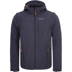 ICEPEAK Leonidas - Men's softshell jacket - Dark Grey