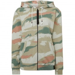 O'NEILL  Ardisia All Over Print Camo - Women's Full Zip Hoodie- Beige Aop
