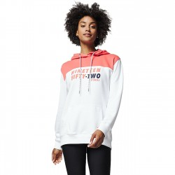 O'NEILL Indra Hoodie - Women's Sweatshirt Hooded - White Aop/Red