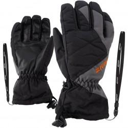 ZIENER AGIL AS® Z-Leash - Junior Ski Gloves - Black Magnet