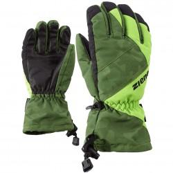 ZIENER AGIL AS® - Παιδικά Γάντια Ski - Olive camo/Print grass