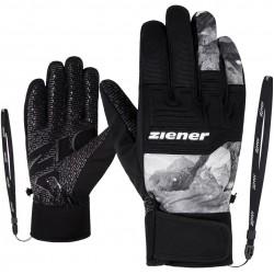 ZIENER GARIM AS - Men's ski/snowboard gloves - Grey mountain print