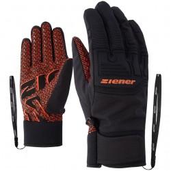 ZIENER GARIM AS - Men's ski/snowboard gloves - Orange spice