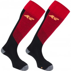 K2 ALL TERRAIN 13691 - Men's ski socks - Black/Red/Neon Orange