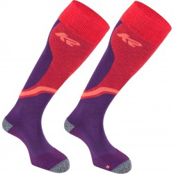 K2 ALL TERRAIN 13692 - Γυναικείες κάλτσες Ski- Violet/Coral/Neon coral
