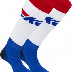 K2 ALL-ROUND 2 pack 14351 - Ski socks - Royal/White/Red