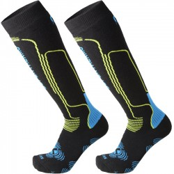 MICO 116 Heavy Superthermo Primaloft -Ski socks - Black/Vigorsol