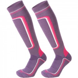 MICO 119 Superthermo Primaloft Women's ski socks - Violet