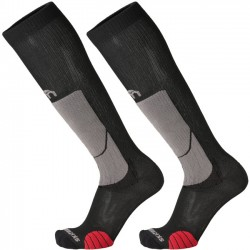 MICO 280 Light weight - Professional Ski Touring socks - Black