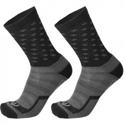 MICO 3012 Medium Weight Natural Merino - short outdoor socks - Black