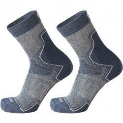 MICO 3069 Light weight - short trekking socks - Blue melange