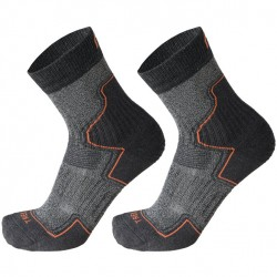 MICO 3069 Light weight - short trekking socks - Anthracite melange