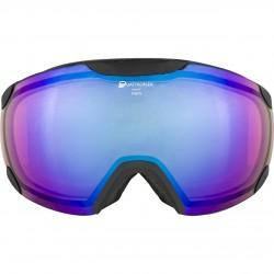ALPINA  PHEOS QHM - Μάσκα Ski/Snowboard - Black grey/blue spherical