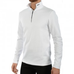 MICO 0670 2nd Layer Men's Half Neck zip Thermal - White