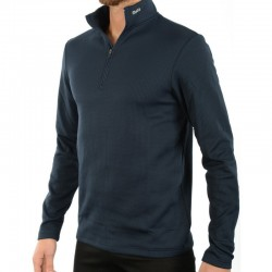 MICO 0670 2nd Layer Men's Half Neck zip Thermal - Blue