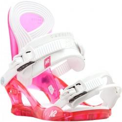 K2 CASSETTE Pink SNOWBOARD BINDINGS WOMEN'S