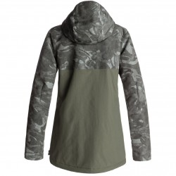 DC CRUISER British Camo Green Women Snow Jacket