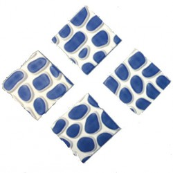 DEMON TEC FOAM Blue/White 4 pcs SNOWBOARD STOMP PADS