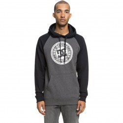 DC CIRCLE STAR PH RAGLAN Black/Charcoal heather Men's Hoodie